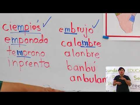 Primaria 3º y 4º clase: 186 Tema: Palabras con mb y mp
