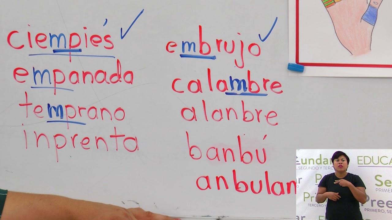 Primaria 3º Y 4º Clase 186 Tema Palabras Con Mb Y Mp Youtube