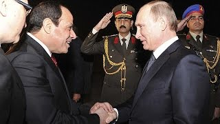 Kalashnikov diplomacy: Putin offers unusual gift on visit to Egypt