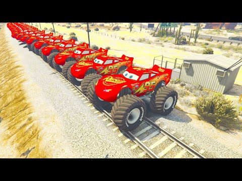 Monster McQueen Truck In Trouble With Thomas Train Spiderman 1 |