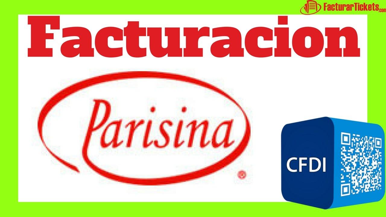 Manual de Facturacion Parisina - Como Facturar tus Tickets - YouTube