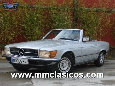 mm clasicos mercedes 350sl cabriolet 1976 youtube. Black Bedroom Furniture Sets. Home Design Ideas