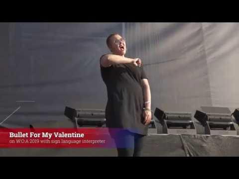Bullet for My Valentine with sign language interpreter @ Wacken 2019