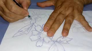 Bordados a mão – imprimindo risco para bordados