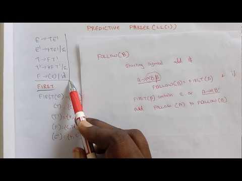 Predictive parser LL(1) by Deeba Kannan