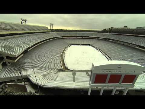 Snow at Sanford Stadium, Jan 29, 2014