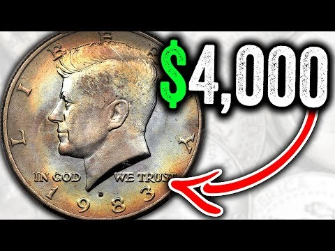 CHECK YOUR 1983 HALF DOLLAR COINS FOR THESE RARE COINS THAT ARE WORTH MONEY