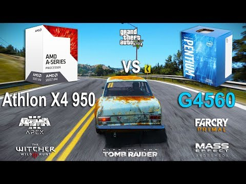 Athlon X4 950 vs Pentium G4560 Test in 7 Games