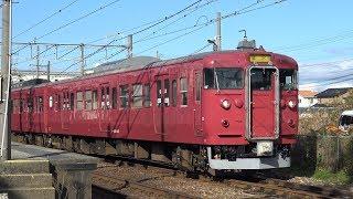 【4K】JR七尾線 普通列車415系電車 サワC07編成 羽咋駅発車