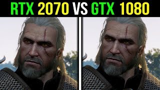 RTX 2070 vs GTX 1080 | Witcher 3 at 4K - MAX Settings