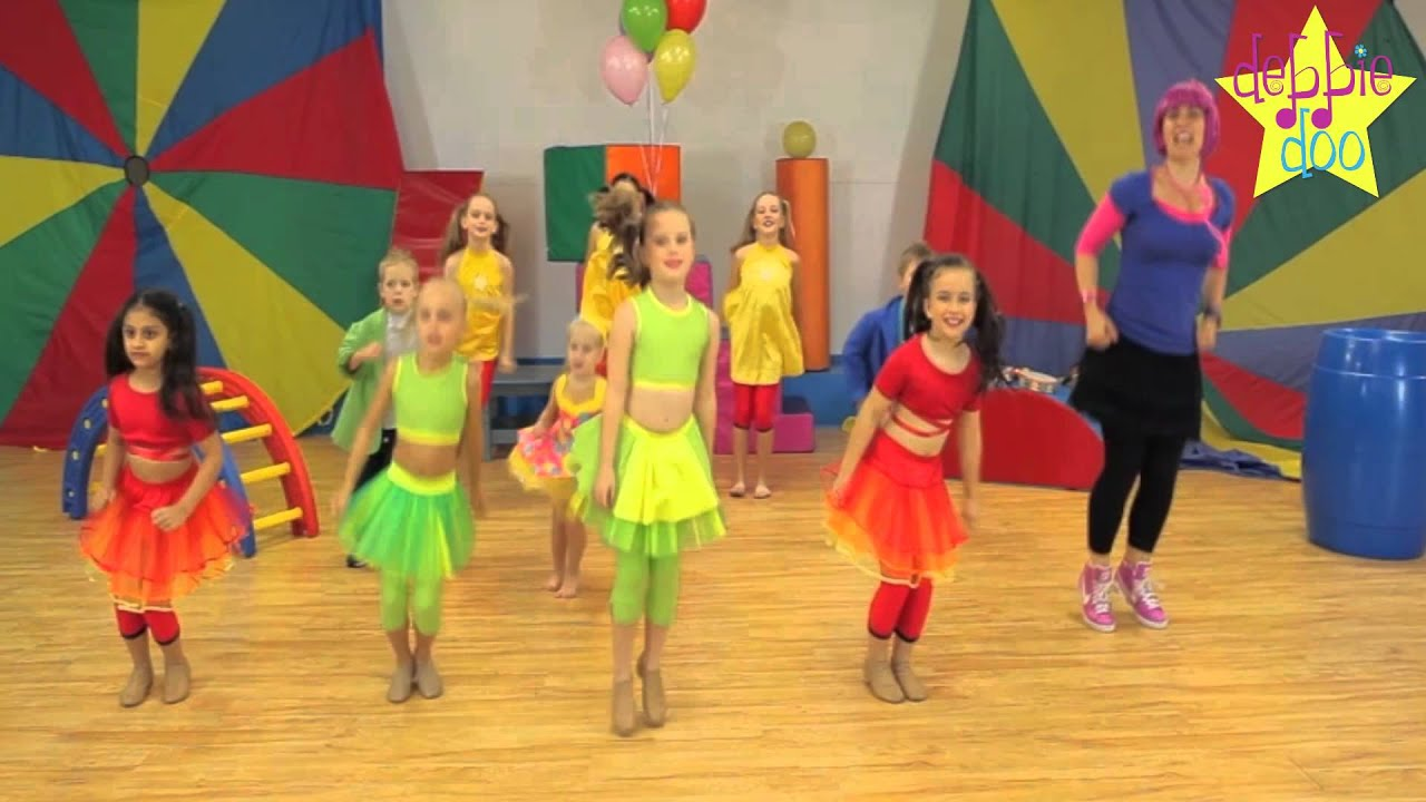Young Kids Are Being Shuffled From One Activity To Another In >> Debbie Doo Friends Let S Star Jump Dance Song For Children