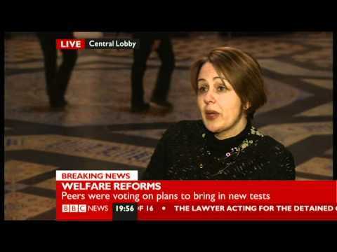 Baroness Tanni Grey-Thompson discussing the welfare reform bill 17/01/2012
