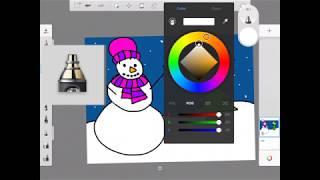 Kindergarten Art - Snowman using Sketchbook iPad App