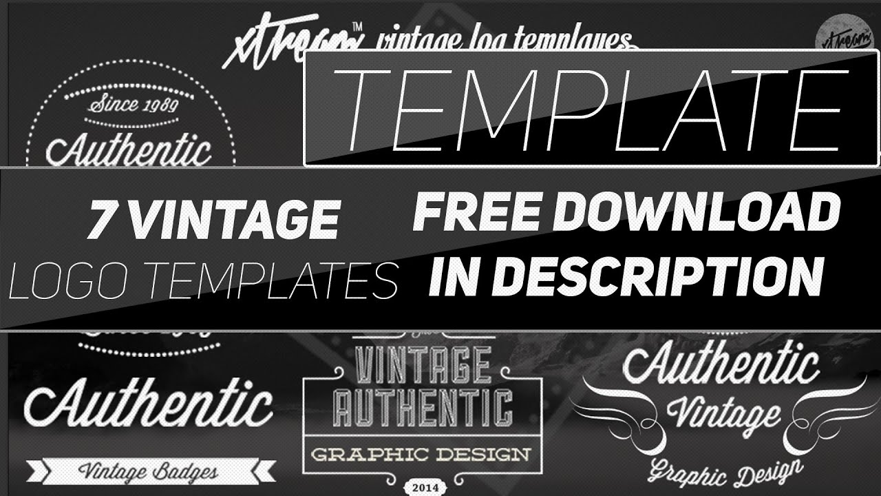 Photoshop 7 vintage logos template xtream graphic designs photoshop 7 vintage logos template xtream graphic designs youtube pronofoot35fo Image collections