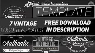 Photoshop: 7 Vintage Logos (Template) Xtream™ Graphic Designs