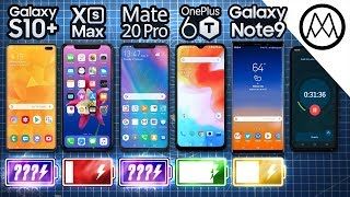 Samsung S10+ vs iPhone XS Max / Mate 20 Pro / OnePlus 6T / Galaxy Note 9 Battery Life DRAIN TEST