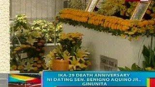 BP: Ika-28 death anniversary ni Ex-Sen. Benigno Aquino Jr., ginugunita