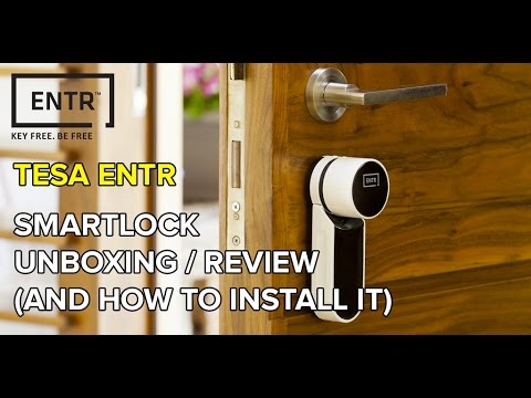 [English] ENTR, the smart door lock by TESA / ASSA ABLOY  -  unboxing and review