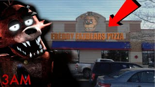 (PIRATES COVE DISCOVERED) 3AM AT FREDDY FAZBEAR's PIZZERIA IN REAL LIFE   FOXY THE PIRATE APPEARS!