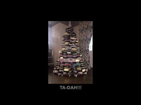 Build Christmas Book Tree