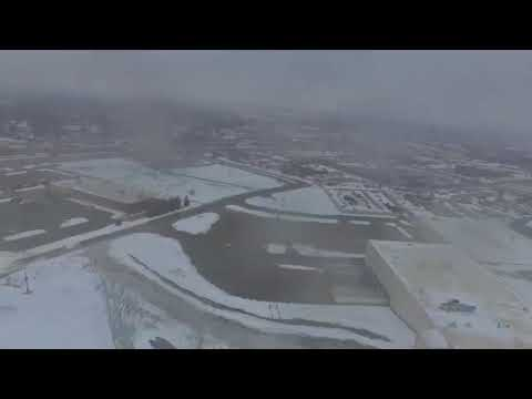 Quick flight over the former Randall Park Mall site with my Phantom 3 Standard on 21118
