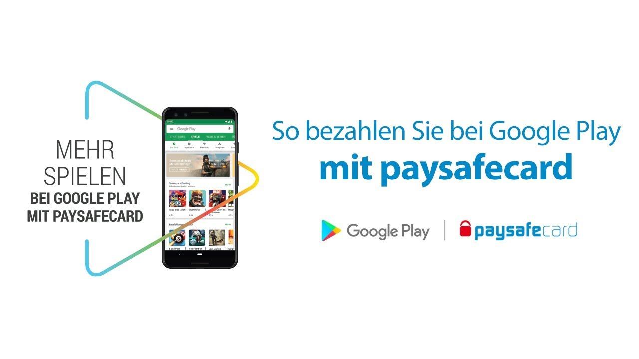google play mit paysafecard aufladen