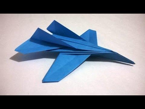 Como Hacer Un Avion De Papel Que Vuele Mucho Origami Papiroflexia Youtube