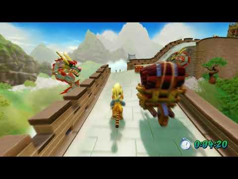 "Crash Bandicoot 3: Warped PS4 Remake 105% Walkthrough - ""Orient Express""  Time Trial - Part 8"