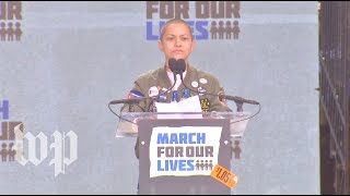 'Six minutes and twenty seconds': Emma Gonzalez delivers speech at Washington march