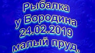 Риболовля у Бородіна 24 02 2019 Малий ставок 4K.