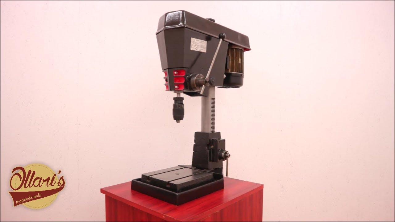 Vintage Drill Press Restoration - YouTube