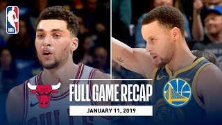 Full Game Recap: Bulls vs Warriors | Steph, Klay, and Durant Combine for 80 Points