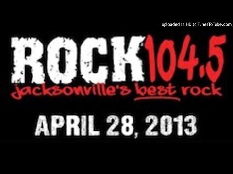 Rock 104.5 - WFYV Jacksonville, FL  - 4/28/13 Stunting before format change