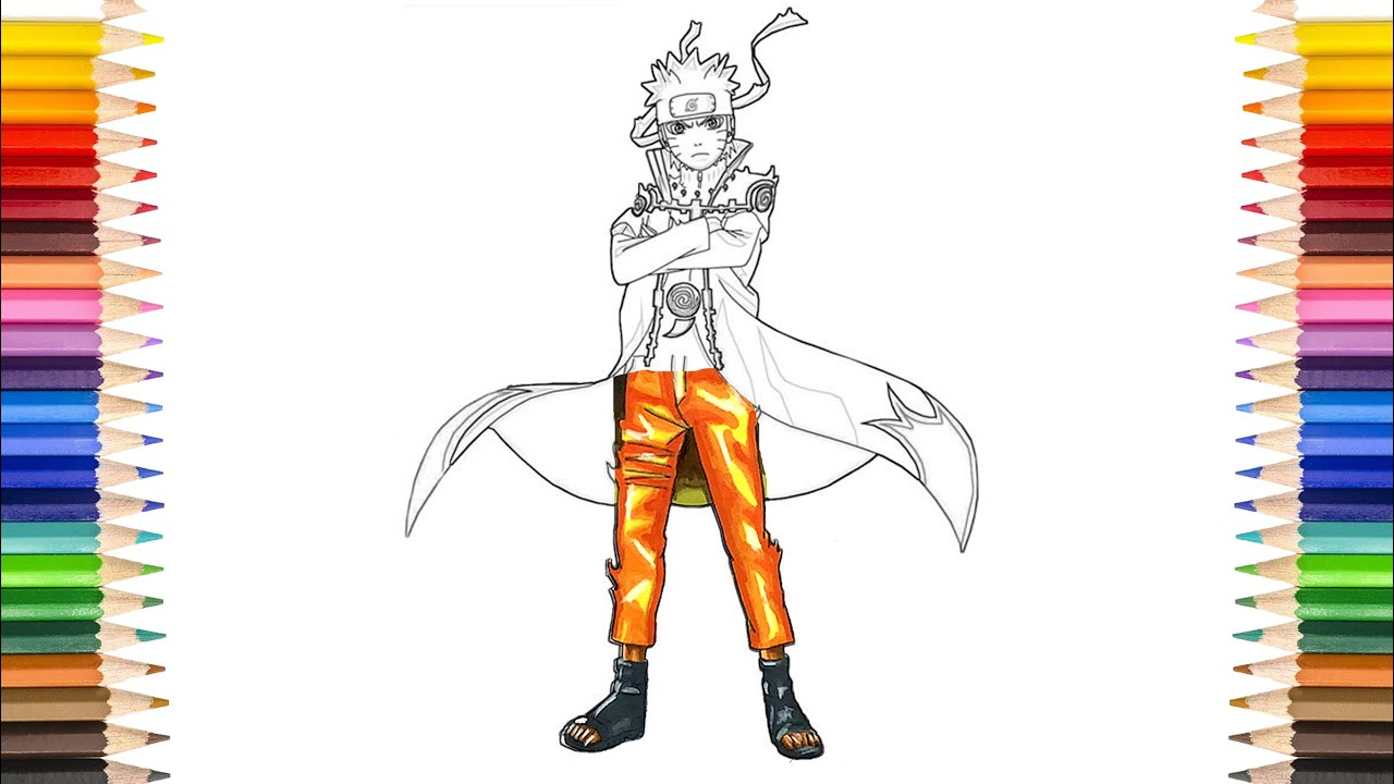 Naruto Coloring Pages Naruto Sage Mode With Nine Tail Coloring Pages Youtube