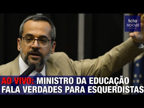 AO VIVO: MINISTRO DA EDUCAÇÃO DE BOLSONARO FALA VERDADES PARA ESQUERDISTAS NA CÂMARA
