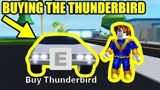 GETTING the 5 MILLION THUNDERBIRD *FLYING CAR* | Roblox Mad City