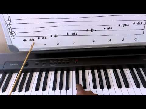 Piano Theory: Sharp Notes - Music Theory