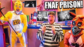 FNAF BOX FORT PRISON ESCAPE!!  Scary Real Life Five Nights At Freddy's Security Breach