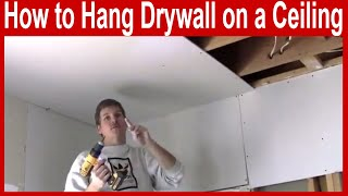How to Hang Drywall on a Ceiling with Canned Lights
