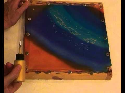 Silk Painting with Fiona Stolze - How to Embellish a Silk Painting with Gold Resist or Gutta