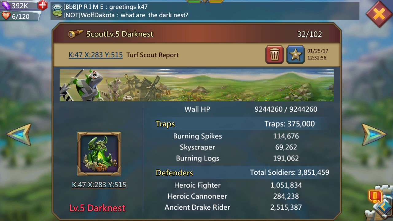 lords mobile darknest guide wall