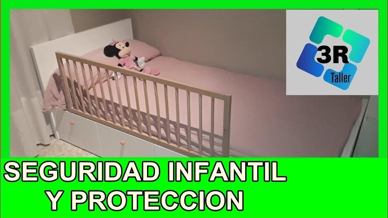 Valla barrera para cama de ni os o beb s diy hack ikea youtube - Cama de ikea para ninos ...