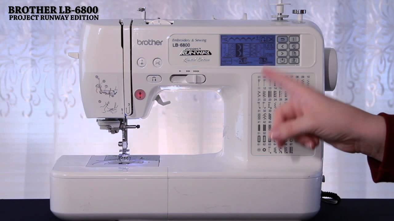 Brother LB6800PRW Sewing and Embroidery Machine   YouTube