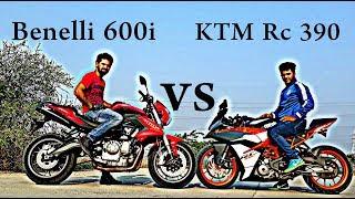 BENELLI 600I VS KTM RC 390 | DRAG RACE
