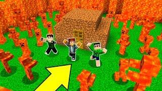 SUPER PROTEÇÃO CONTRA MONSTROS DE LAVA !! - Minecraft Defesa