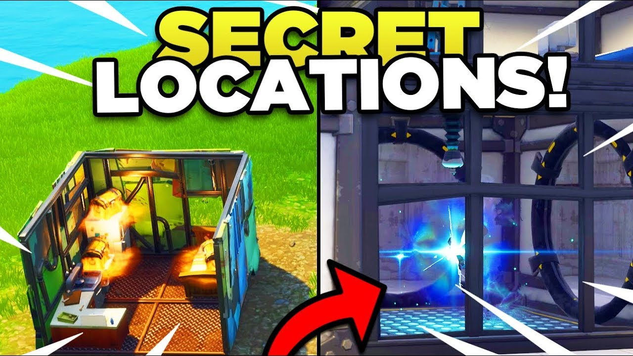 Secret Subway Map Location.New Map Changes In Season 6 With Secret Underground Bunker Fortnite