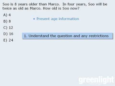 1 Gre Lesson  Intro To Word Problems  Youtube