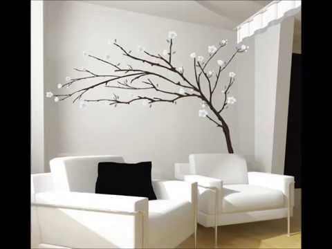 Stickers design pour une d coration murale pienture - Deco murale salon design ...