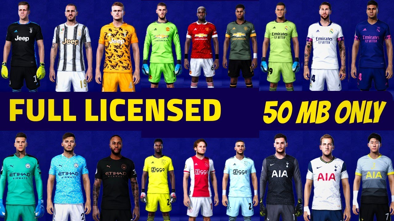 Pes 2020 Mobile Patch | Full Licensed, ISL, Premier League, 2020/21 Kits, 50+ Manager Faces