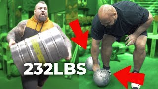 LIFTING THE UNLIFTABLE DUMBBELL | KEG RUN | EDDIE HALL